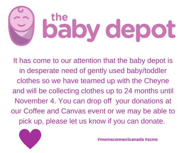 It has come to our attention that the baby depot is in desperate need of gently used babytoddler clothes so we have teamed up with the Cheyne and will be collecting clothes up to 24 m